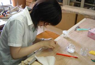 彫金の実習